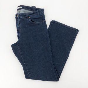 Eileen Fisher Dark Wash High Rise Denim Jeans